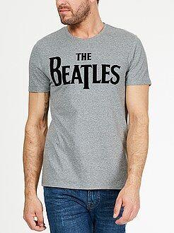 Hombre Camiseta flocada 'The Beatles'