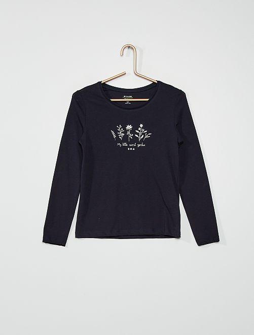 Camiseta 'flores'                                                                                                                                         AZUL