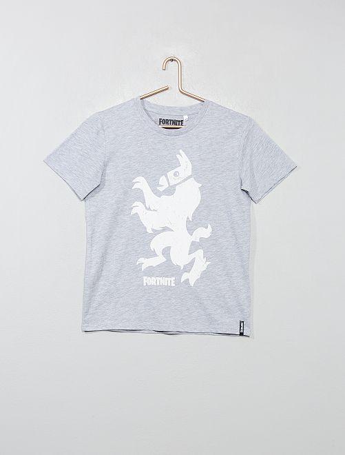 Camiseta 'Fortnite'                             gris chiné Joven niño