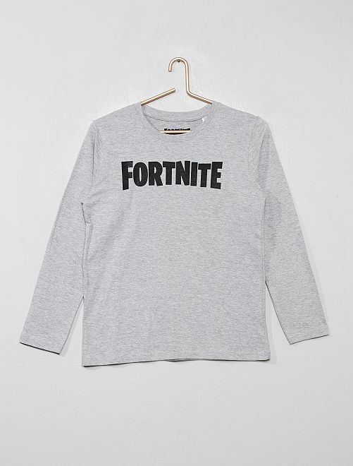 Camiseta 'Fortnite'                             gris chiné