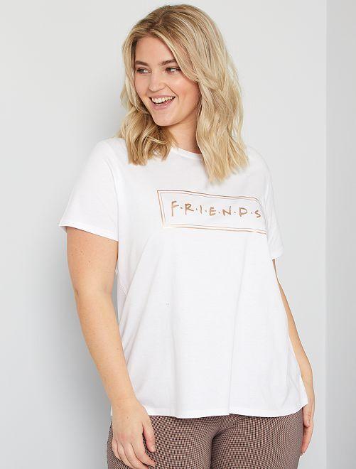Camiseta 'Friends'                             blanco