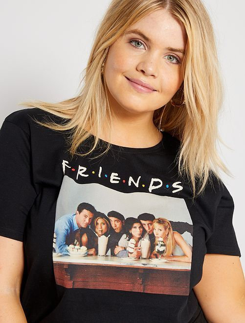 Camiseta 'Friends'                             negro