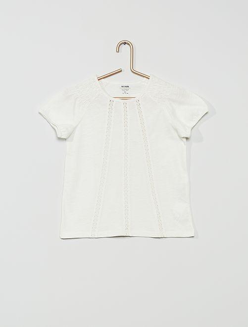 Camiseta fruncida 'Eco-Concepción'                                                                                                                             blanco nieve