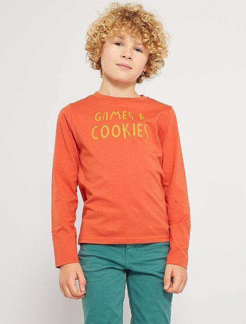 Camiseta 'Games and cookies'                                                                                                                             NARANJA