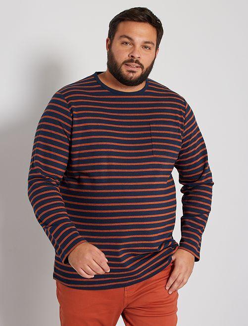 Camiseta gruesa de rayas                                         AZUL