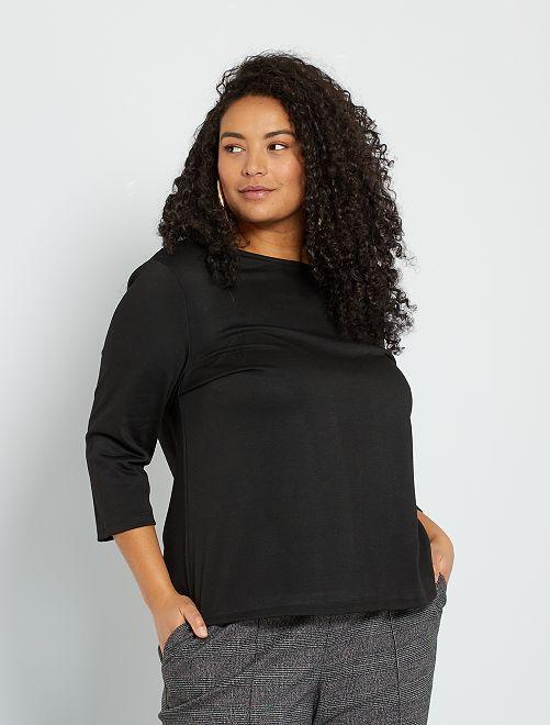 Camiseta gruesa                             negro
