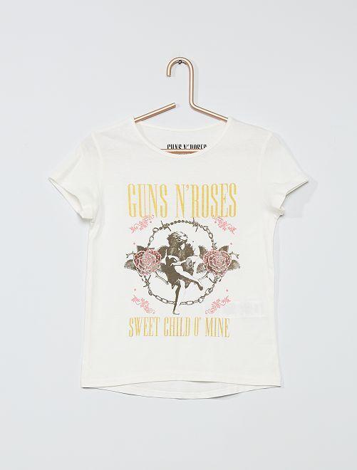 Camiseta 'Guns N' Roses'                             blanco nieve