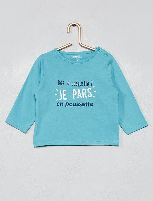 Camiseta 'Halloween' algodón orgánico                                                                                                                                                                                                                 AZUL