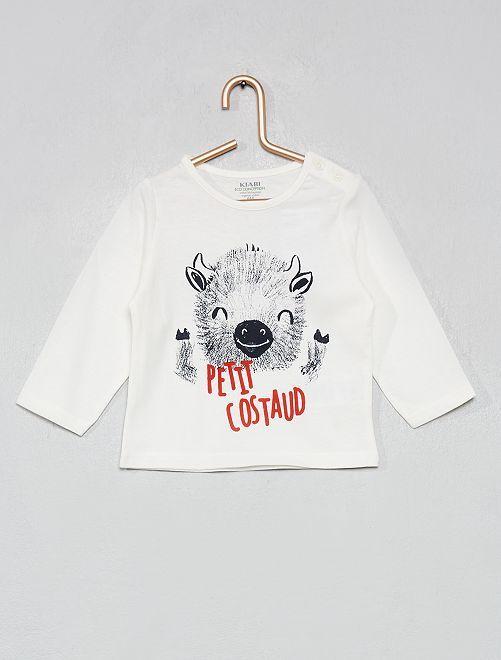 Camiseta 'Halloween' algodón orgánico                                                                                                                                                                                                                 BLANCO