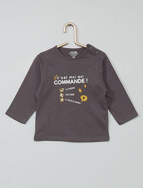 Camiseta 'Halloween' algodón orgánico                                                                                                                                                                                                                 GRIS