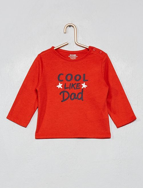 Camiseta 'Halloween' algodón orgánico                                                                                                                                                                                                                 ROJO