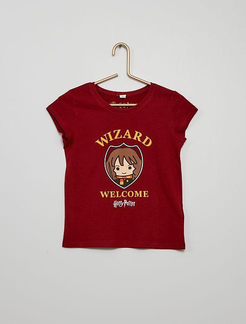 Camiseta 'Harry Potter'                             burdeos