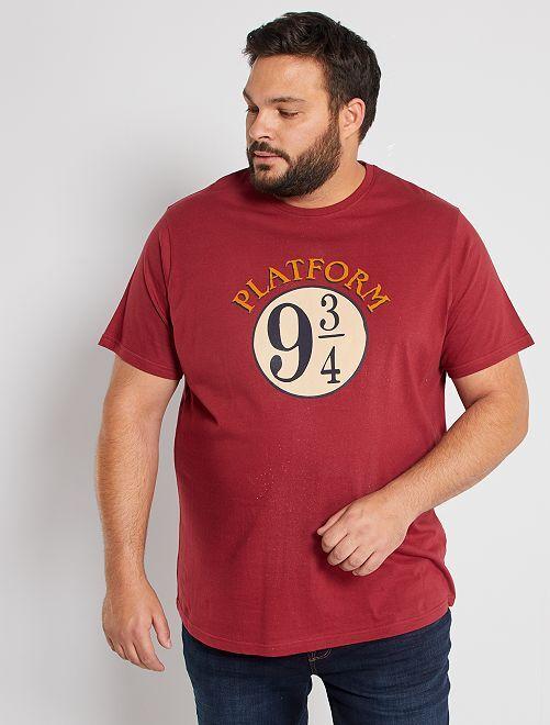 Camiseta Harry Potter                             burdeos