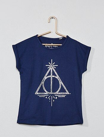 edcf79621 Camiseta  Harry Potter  con estampado plateado - Kiabi