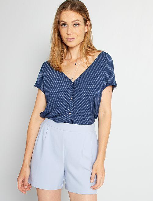 Camiseta hilos brillantes                                                                 azul