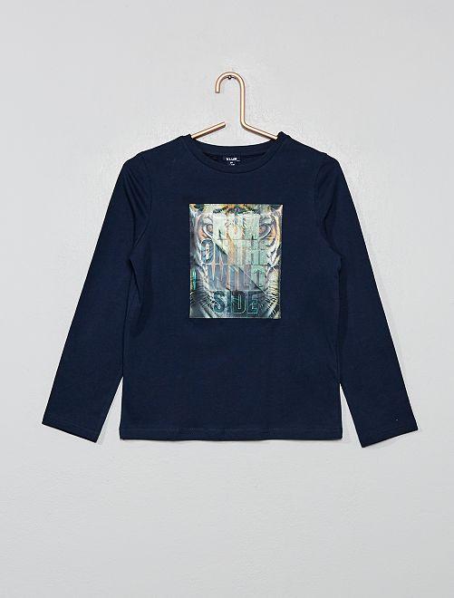 Camiseta holograma                                                     azul