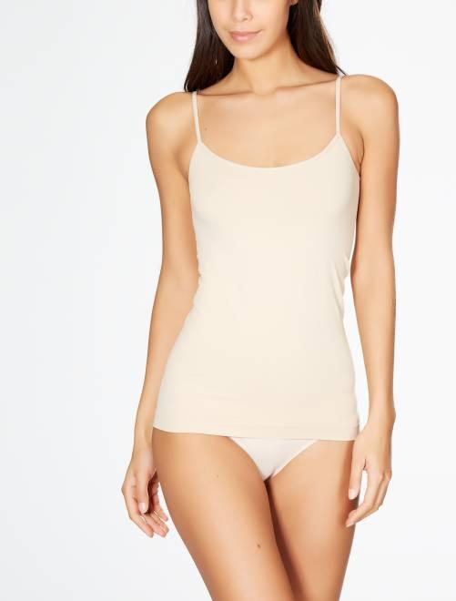 Camiseta interior con tirantes finos y sin costuras 'Le Bourget'                                         peau