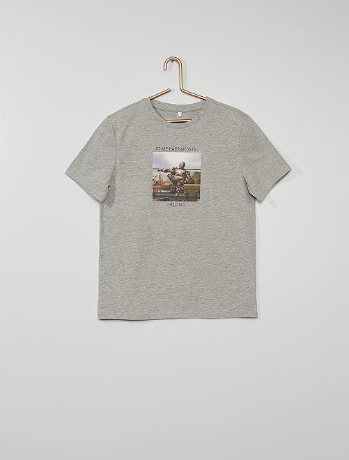 Camiseta 'Iron Man' eco-concepción                             GRIS