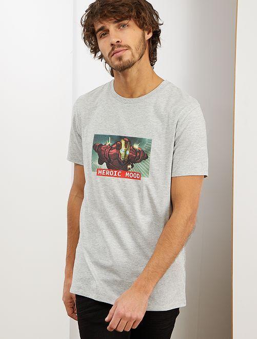 Camiseta 'Iron Man'                                         GRIS
