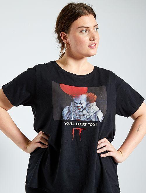 Camiseta 'It'                             negro