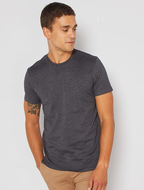Camiseta jacquard eco-concepción                                                                                         gris oscuro