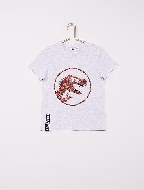 Camiseta 'Jurassic Park'                             gris chiné