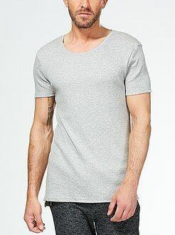 Camiseta larga de punto