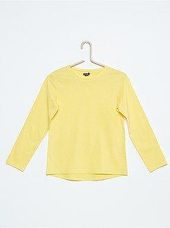 Camiseta lisa de algodón