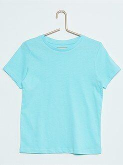 Camisetas manga corta - Camiseta lisa de algodón puro