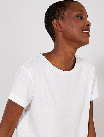 Pequeños BlancaKiabi Moda Precios Camiseta A La fgvI6yY7b