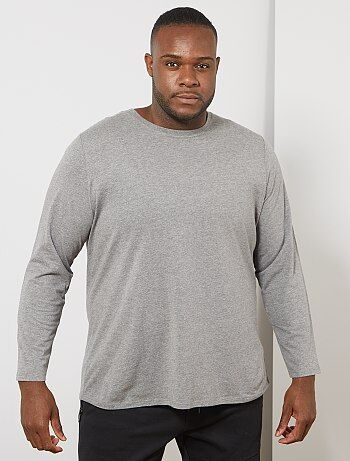187607e4886e Tallas grandes hombre - Camiseta lisa de algodón puro - Kiabi