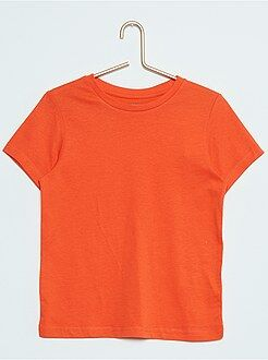 Niño 3-12 años Camiseta lisa de algodón puro
