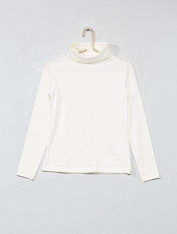 Camiseta lisa de cuello alto - Kiabi