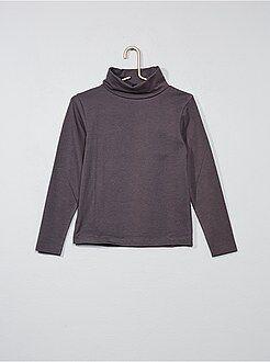 Niña 3-12 años - Camiseta lisa de cuello alto - Kiabi