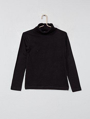 2f673d72a Niña 3-12 años - Camiseta lisa de cuello alto - Kiabi