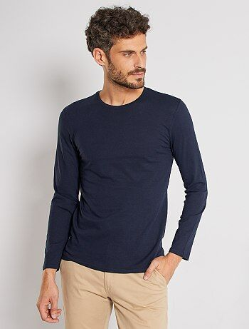 Camiseta lisa de manga larga - Kiabi