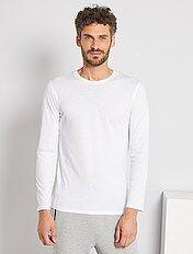 Camiseta lisa de manga larga