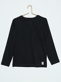 Camisetas, polos - Camiseta lisa de manga larga