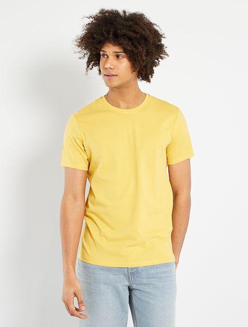 Camiseta lisa de punto                                                                                                                                         amarillo anaranjado