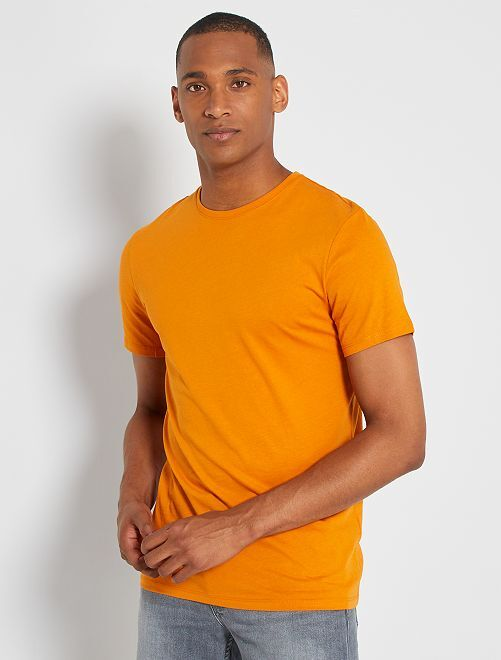 Camiseta lisa de punto                                                                                                                 AMARILLO