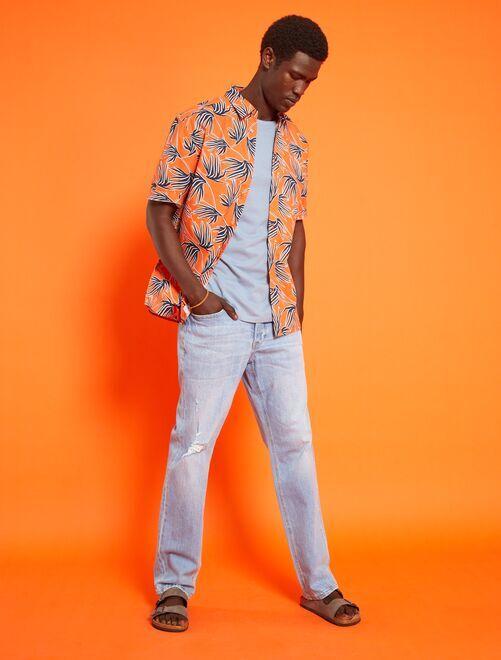 98f4dd3f0 Camiseta lisa de punto Hombre - NARANJA - Kiabi - 3