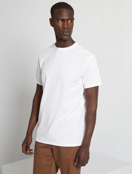 Camiseta lisa de punto                                                                                                                             blanco