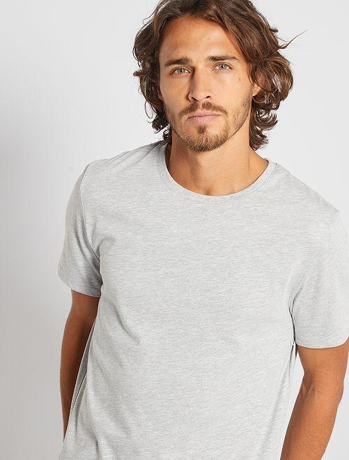 Camiseta lisa de punto                                                                                                                             gris claro