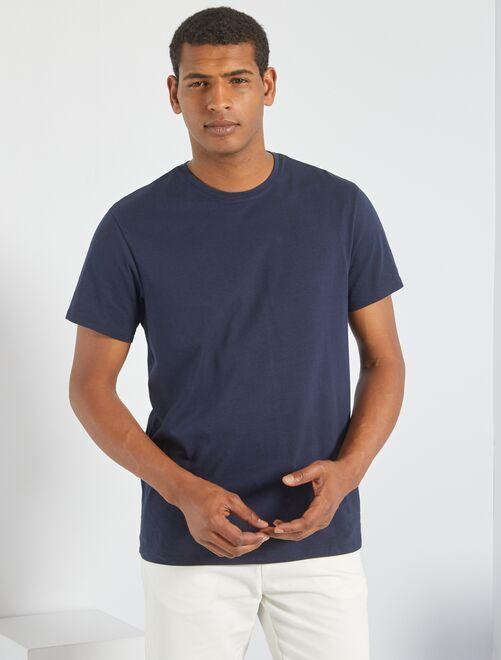 Camiseta lisa de punto                                                                                                     GRIS