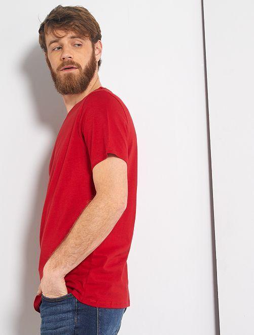 Camiseta lisa de punto                                                                                                                                         ROJO