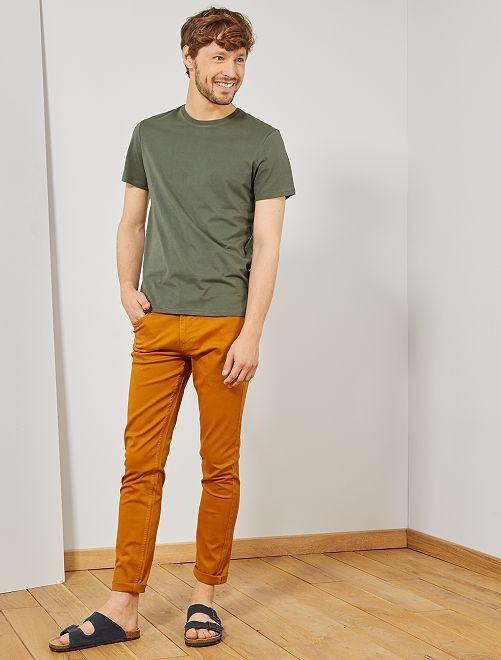 Camiseta lisa de punto                                                                                                                             verde tomillo