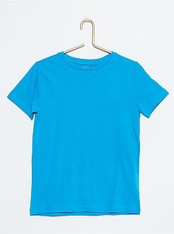 Niño 4-12 años Camiseta lisa de puro algodón