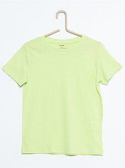 Camiseta lisa de puro algodón