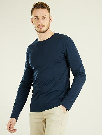 Tallas grandes hombre - Camiseta lisa fitted de algodón +1,90 m - Kiabi