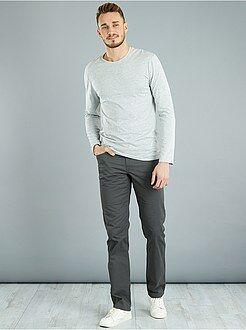 Hombre de mas de 1'90m - Camiseta lisa fitted de algodón +1,90 m - Kiabi